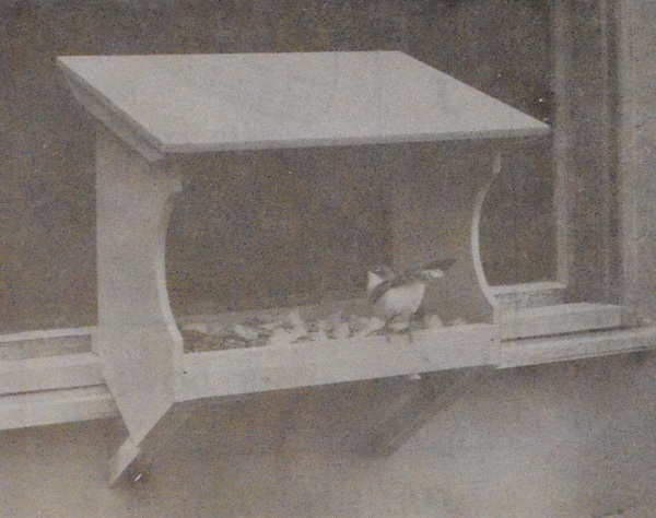 Window Bird Feeder Vintage Woodworking Plan