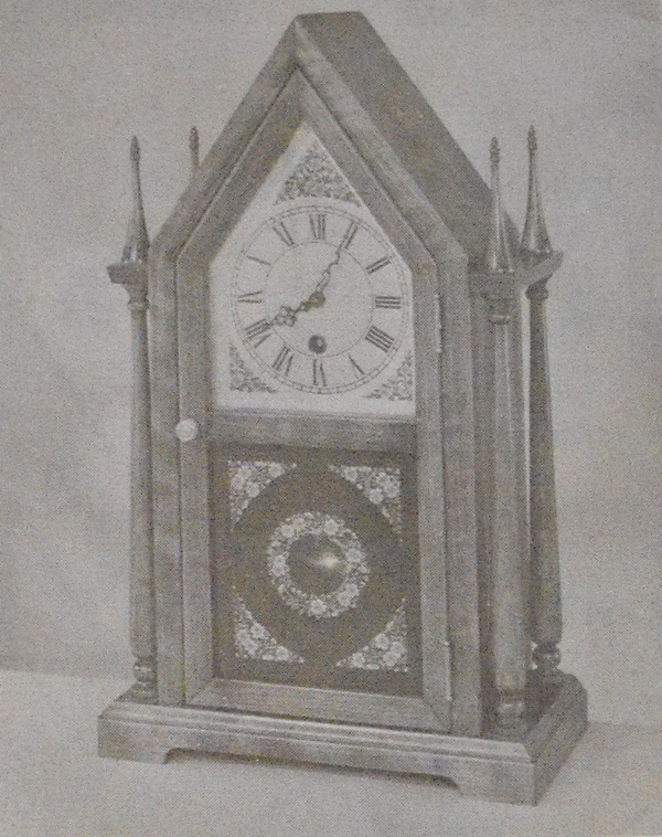 R-ANH1085 - Twin Steeple Shelf Clock Vintage Woodworking Plan.