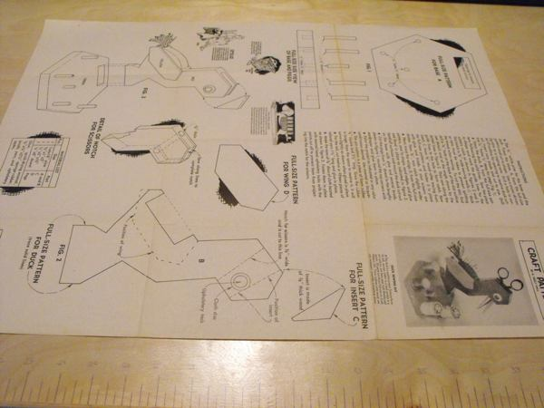 R-ANH1101 - Duck Sewing Kit Vintage Woodworking Plan