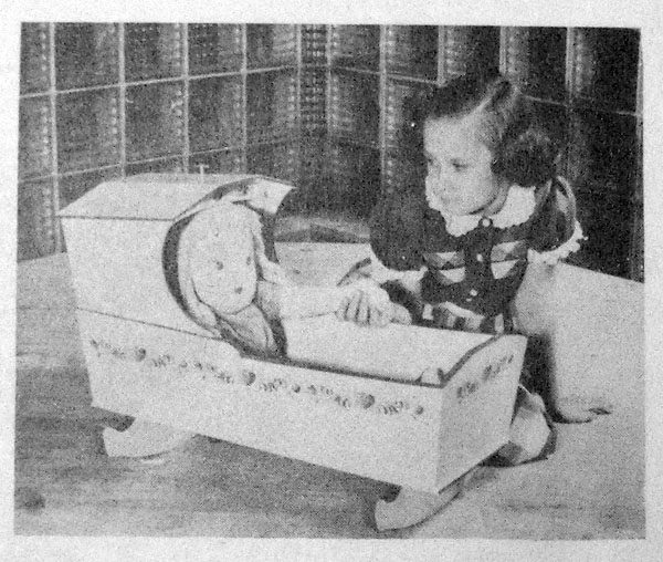Colonial Dolls Cradle Vintage Woodworking Plan.