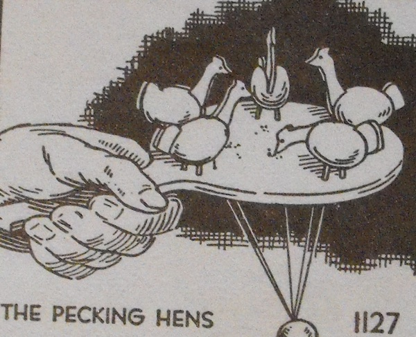 R-ANH1127 - The Pecking Hens Vintage Woodworking Plan.