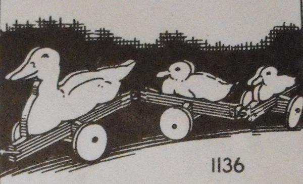 R-ANH1136 - Duck and Ducklings Vintage Woodworking Plan