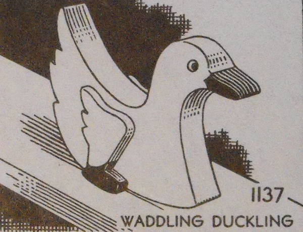 R-ANH1137 - Waddling Duckling Vintage Woodworking Plan.