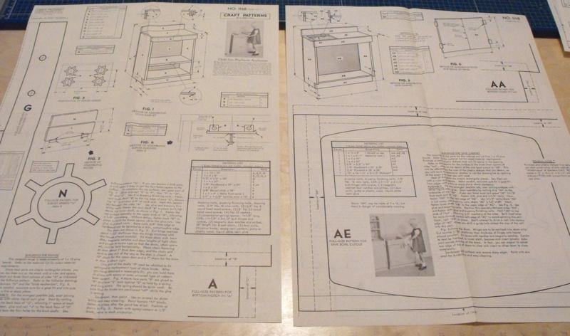 R-ANH1148 - Appliances Sink and Stove for the Playhouse Vintage Woodworking Plan