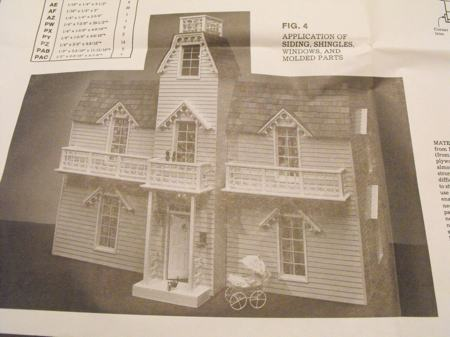 Victorian Dollhouse Vintage Woodworking Plan.