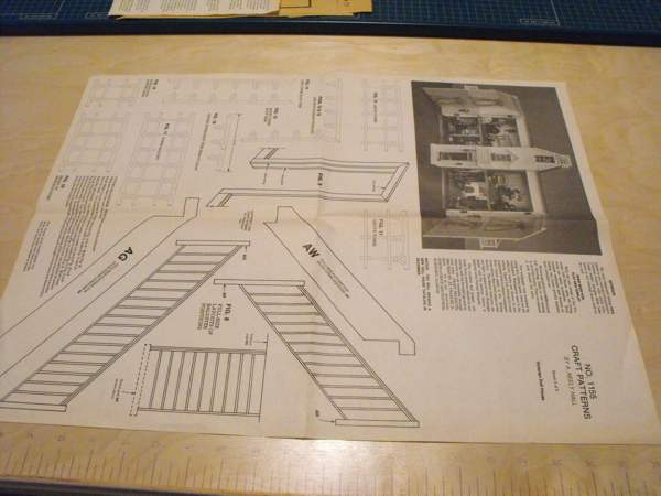 R-ANH1155 - Victorian Dollhouse Vintage Woodworking Plan.