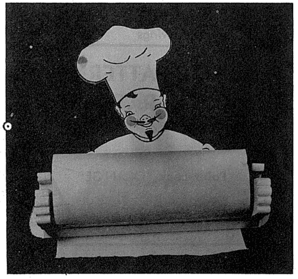 The Chef Will Hold Your Paper Towel Vintage Woodworking Plan woodworking plan