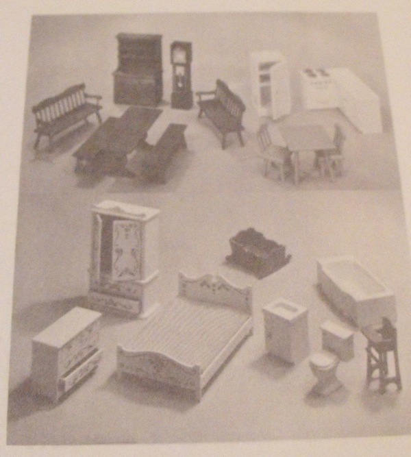 Doll House Furniture Vintage Woodworking Plan.