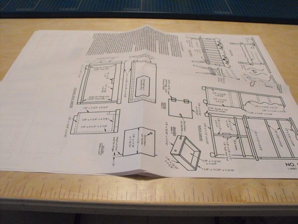 R-ANH1186 - Doll House Furniture Vintage Woodworking Plan.