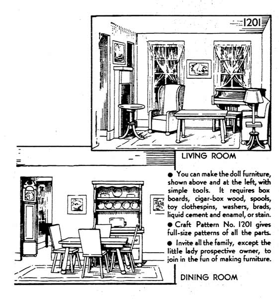 Furniture for the Doll House Vintage Woodworking Plans woodworking plan