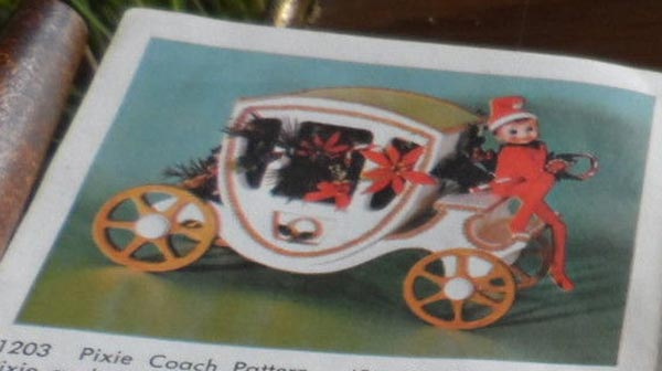 Christmas Pixie Coach Vintage Woodworking Plan