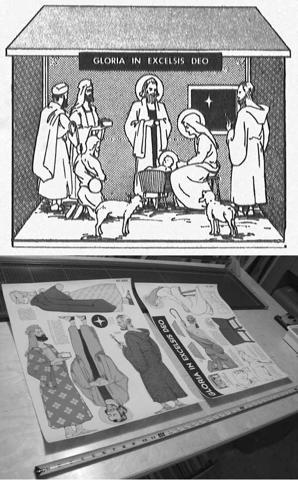 Scene of the Nativity Vintage Woodworking Plan - One Quarter Life Size