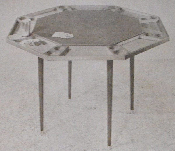 Poker Table with Commercial Legs Vintage Woodworking Plan