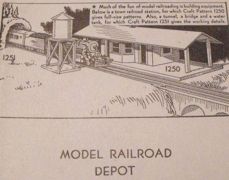 R Anh1250 Model Railroad Depot Vintage Woodworking Plan