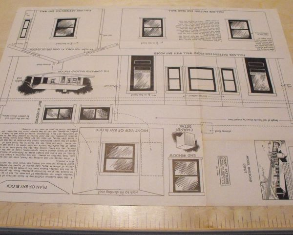 R anh1250 model railroad depot vintage woodworking plan for Railroad depot plans