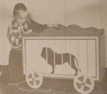 Circus Wagon Toy Chest Vintage Woodworking Plan.