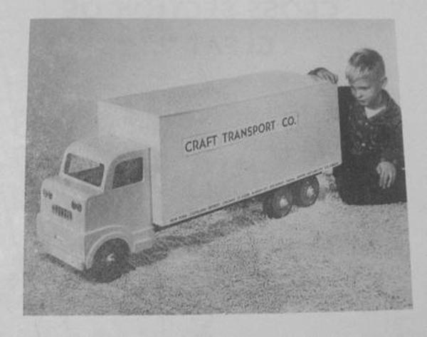 R-ANH1292 - Transport Truck Toy Chest Vintage Woodworking Plan.