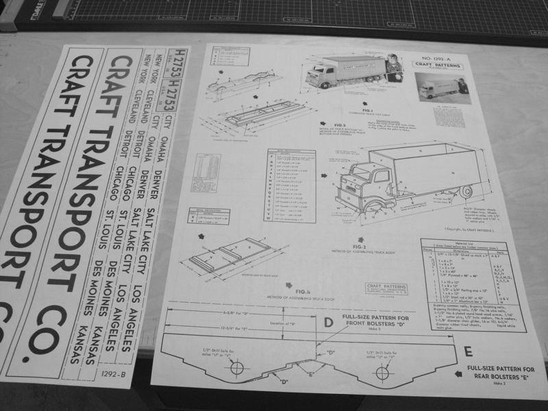 Transport Truck Toy Chest Vintage Woodworking Plan.