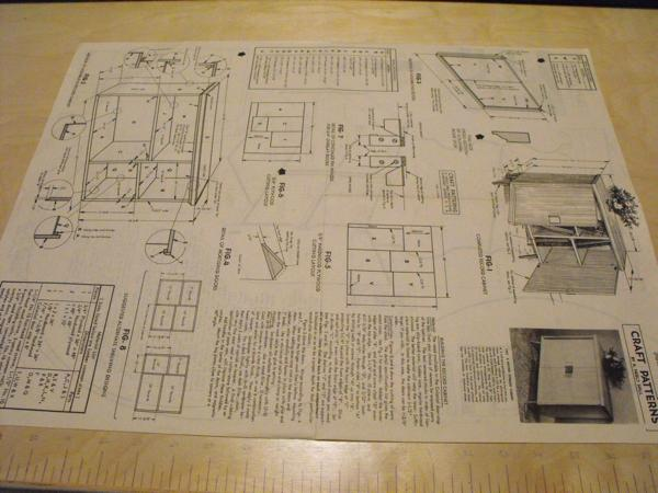 R-ANH1322 - A Record Storage Cabinet Vintage Woodworking Plan.