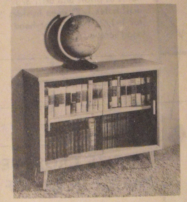 Easy to Build Modern Bookcase Vintage Woodworking Plan