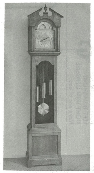 R-ANH1336 - Grandfather Clock with Break-Arch Vintage Woodworking Plan.