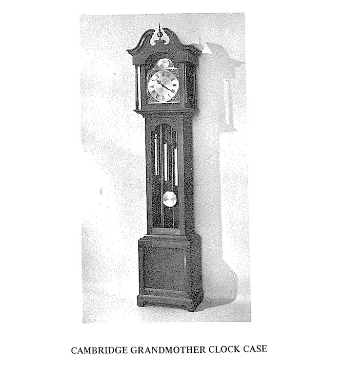 Cambridge Hall Clock Vintage Woodworking Plan