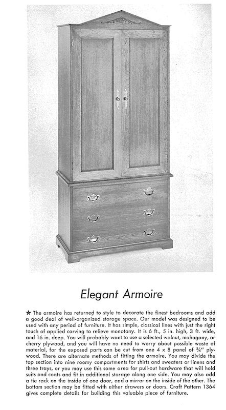 Elegant Armoire Vintage Woodworking Plan
