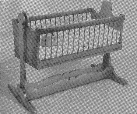 R-ANH2104 - A Cool Cradle for Baby Vintage Woodworking Plan.
