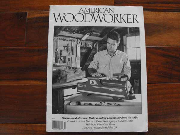 R-AW23 - American Woodworker Dec 1991 No. 23 Vintage Woodworking Magazine
