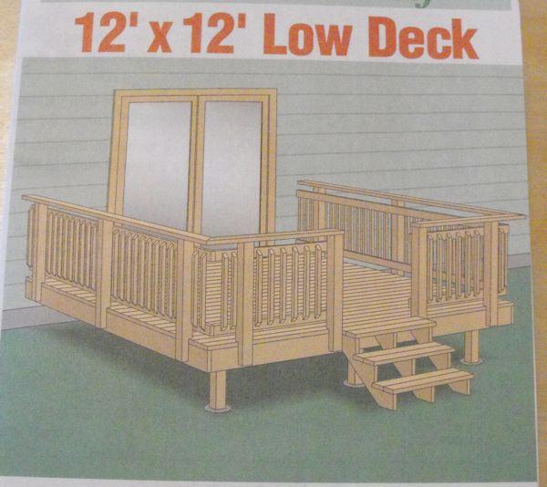 Low Deck 12 Ft X Vintage Woodworking Plan