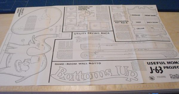 5 Vintage Woodworking Plan Set No J63