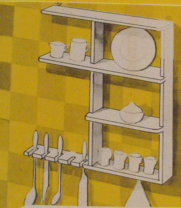 Convenient Kitchen Shelf Vintage Woodworking Plan