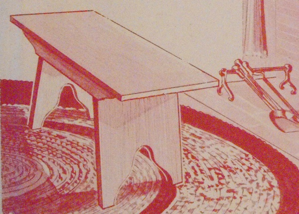R-EB023 - Fireside Bench Vintage Woodworking Plan