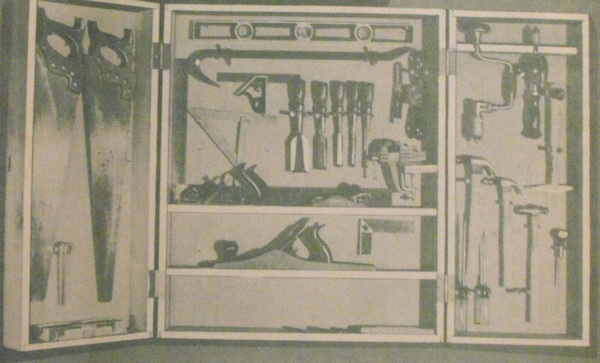 R-EB071 - Hanging Tool Chest Vintage Woodworking Plan