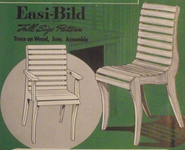 Adult and Junior Size Chairs Vintage Woodworking Plan Set.