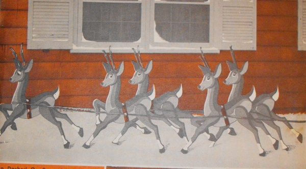 R-EB433 - A Christmas Reindeer Vintage Woodworking Plan.