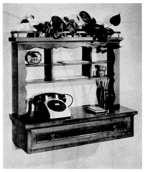 Telephone Rack Vintage Woodworking Plan woodworking plan