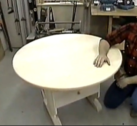 R-NYW0207 - Chair Table Woodworking Plan Featuring Norm Abram