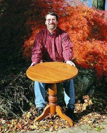 R-NYW0208 - Pedestal Table Woodworking Plan Featuring Norm Abram