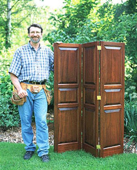 Folding Room Screen Woodworking Plan Featuring Norm Abram