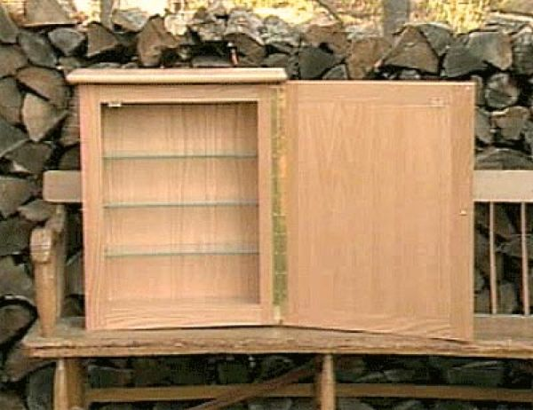 Medicine Cabinet Woodworking Plan Featuring Norm Abram