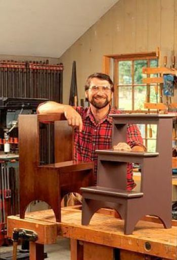 Shaker Step Stools Woodworking Plan Featuring Norm Abram