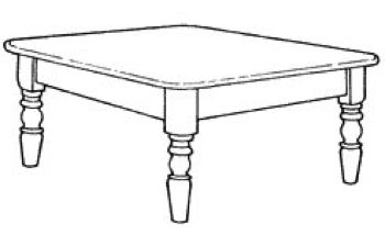 R-NYW8021 - Coffee Table Woodworking Plan Featuring Norm Abram
