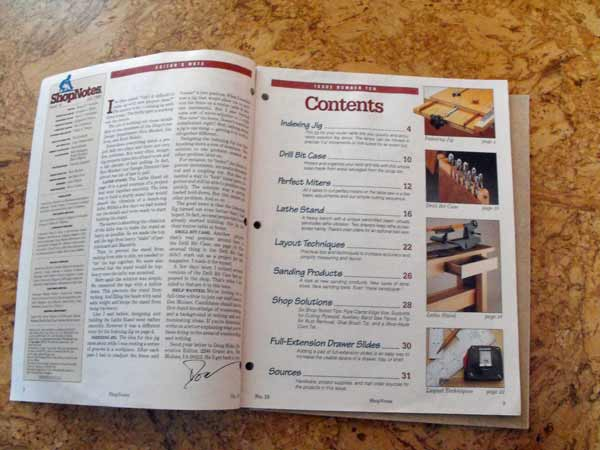 Shopnotes Issue 10 Vol 2 Recycled Woodworking Magazine
