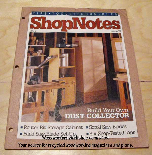 ShopNotes Issue 13 Vol 3 Recycled Woodworking Magazine
