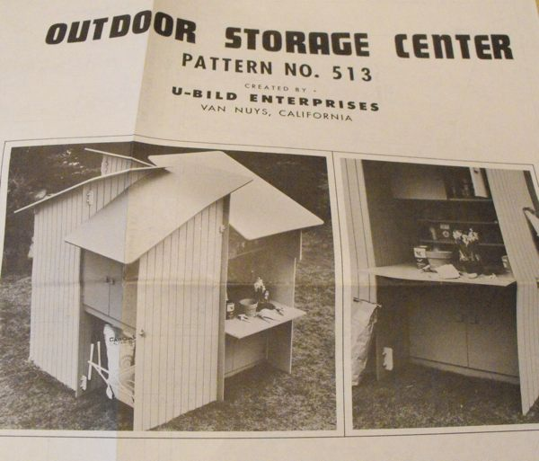 Outdoor Storage Center Vintage Woodworking Plan