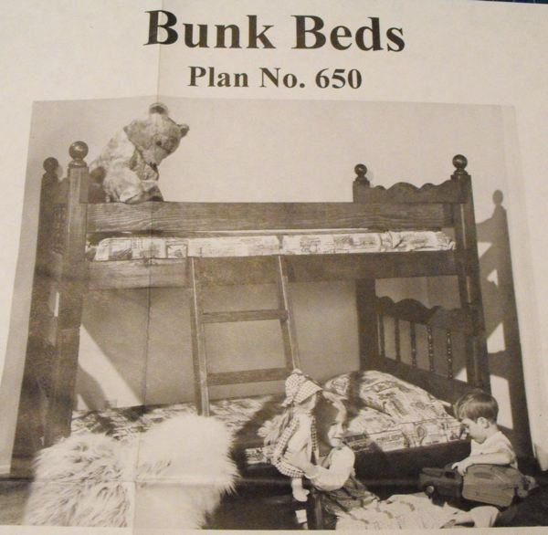 R-UBILD650 - Bunk Beds Vintage Woodworking Plan
