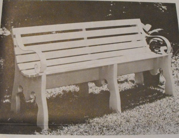 Park Style Bench Vintage Woodworking Plan
