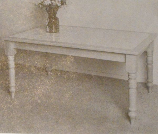 Tile Top Table Vintage Woodworking Plan