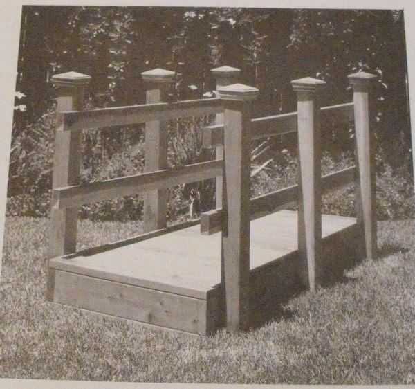 Footbridge Plans: Footbridge Vintage Woodworking Plan